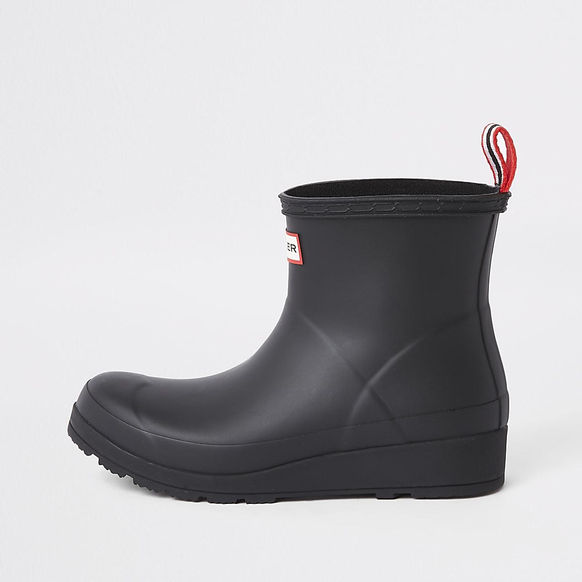 Hunter Play black short rubber boots