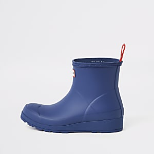 3e483ac1a62 Hunter Play blue short wellington boots