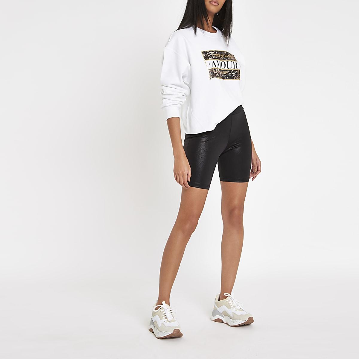 3aea7e3f895d6 Black coated cycling shorts