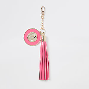 Pink tassel RI key ring