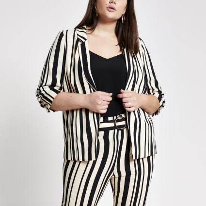 Plus black stripe blazer