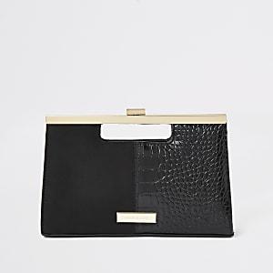 Pochette noire avec poignée