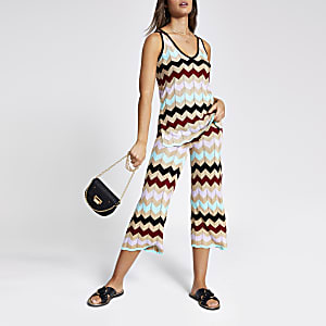8a6b37c8cc3 Stripe Trousers | Women Trousers | River Island