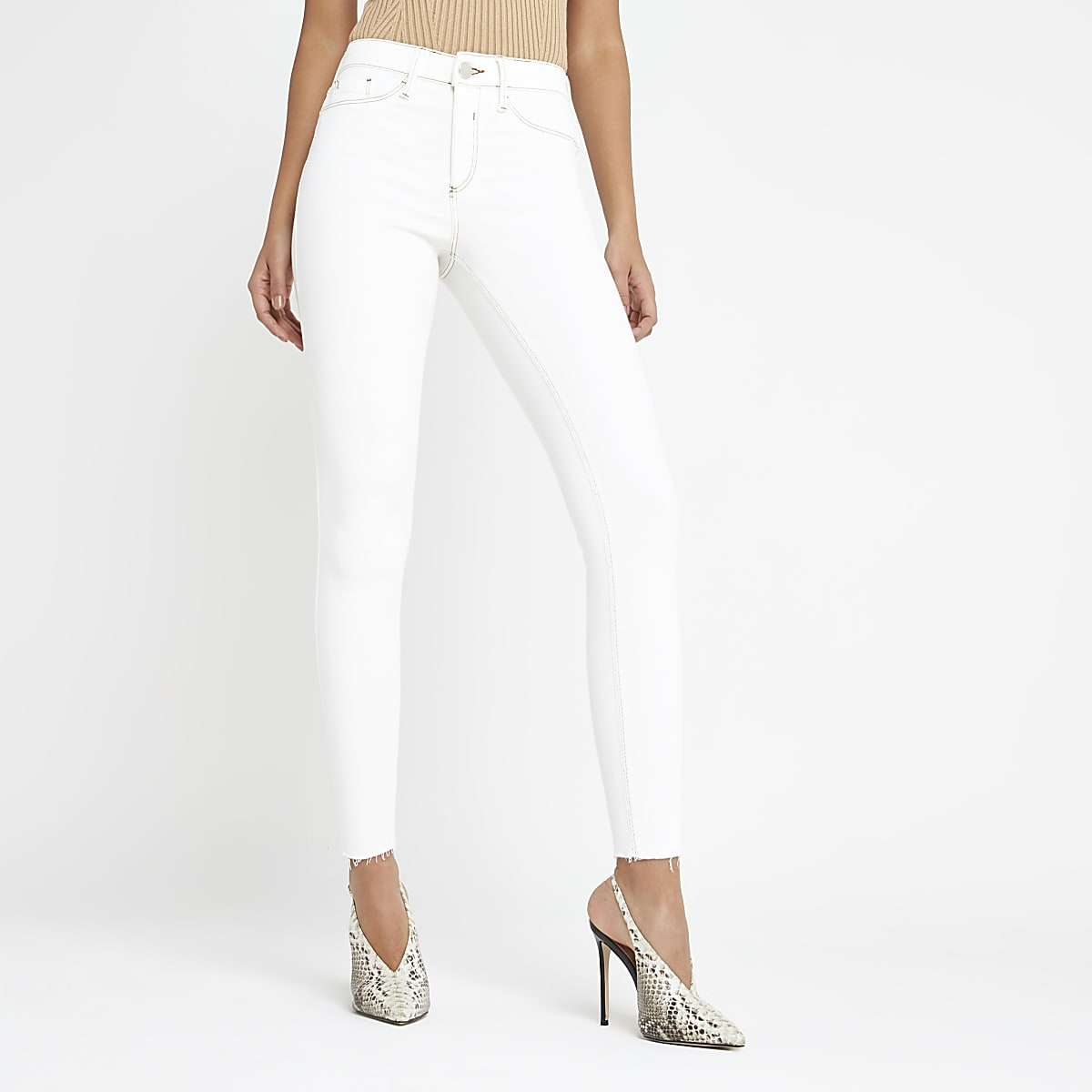 Off white Molly mid rise jeggings