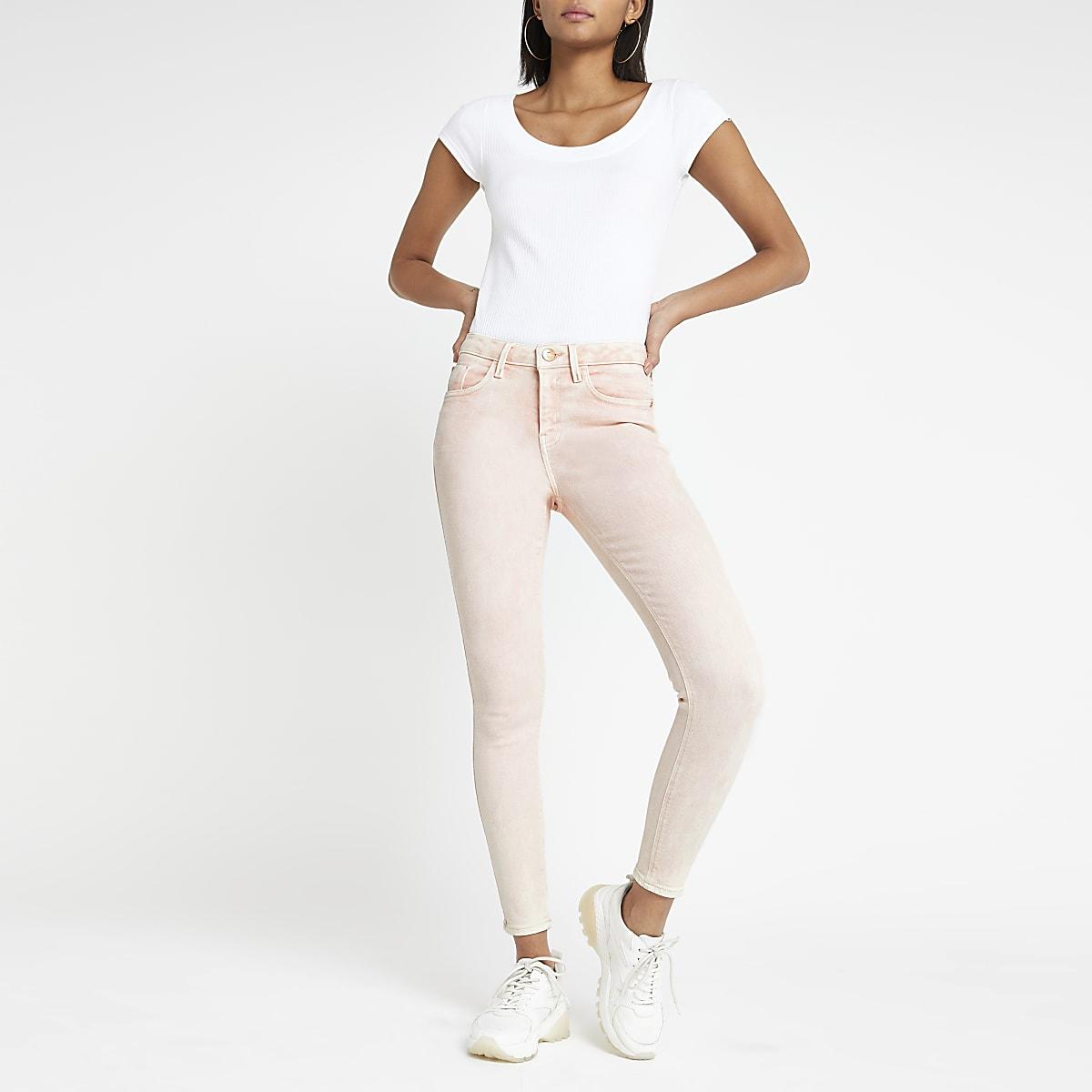 Pink Amelie super skinny jeans