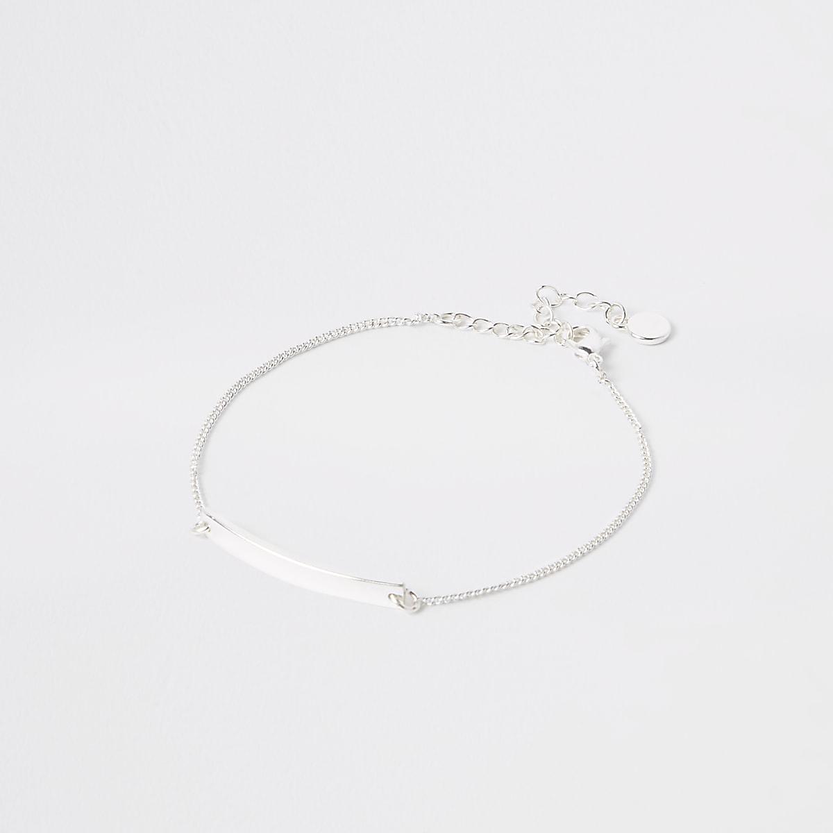 Silver plated bar bracelet