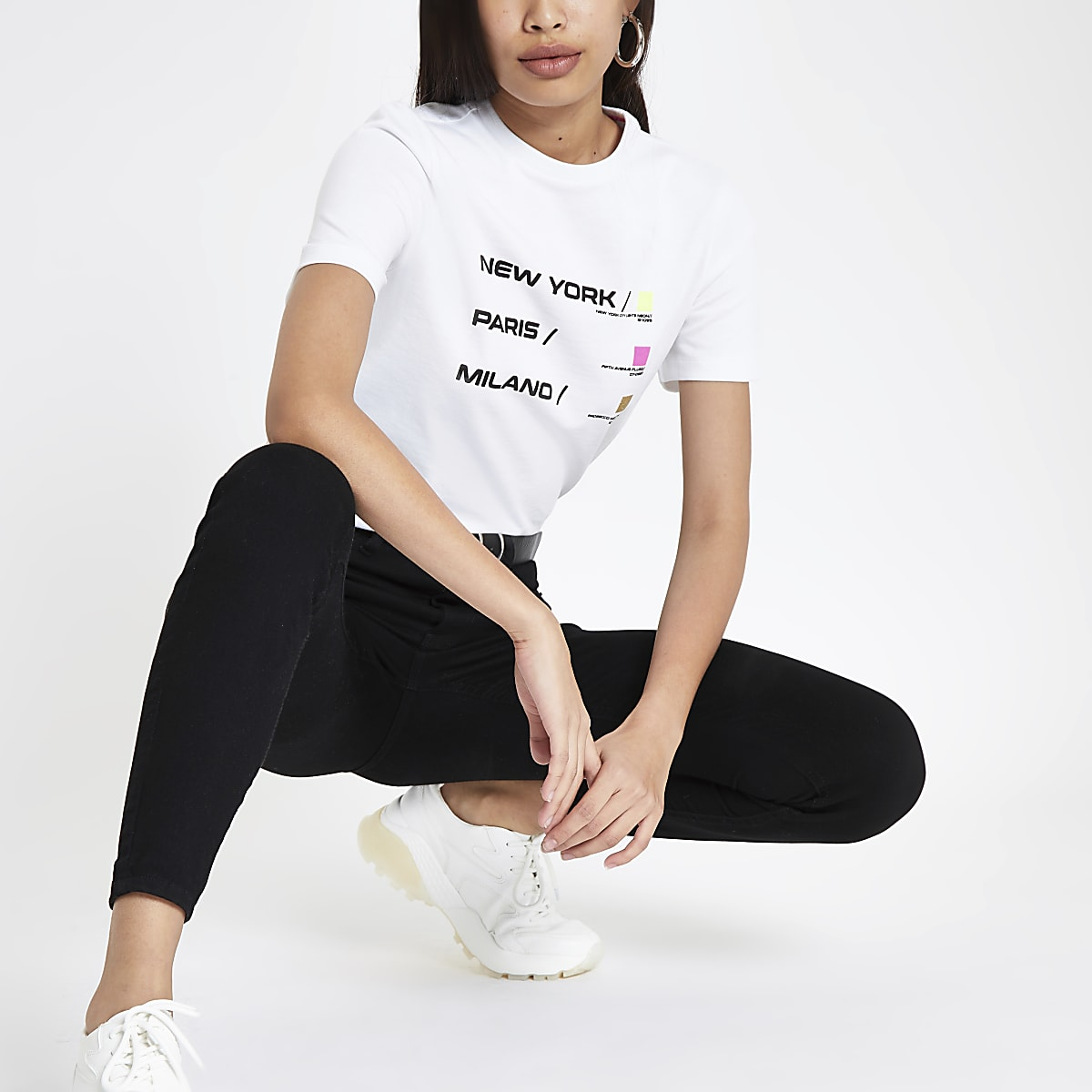 White city neon print T-shirt