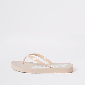 Juicy Couture pink flip flops