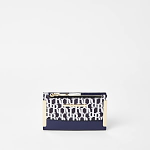 Navy RI mini fold out purse
