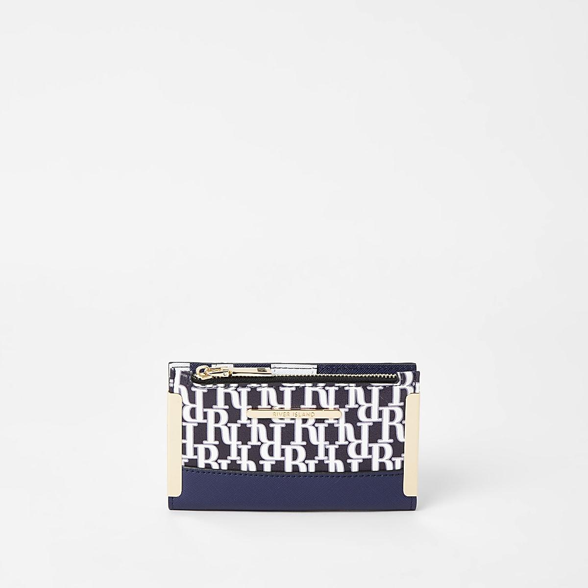 Navy RI mini fold out purse