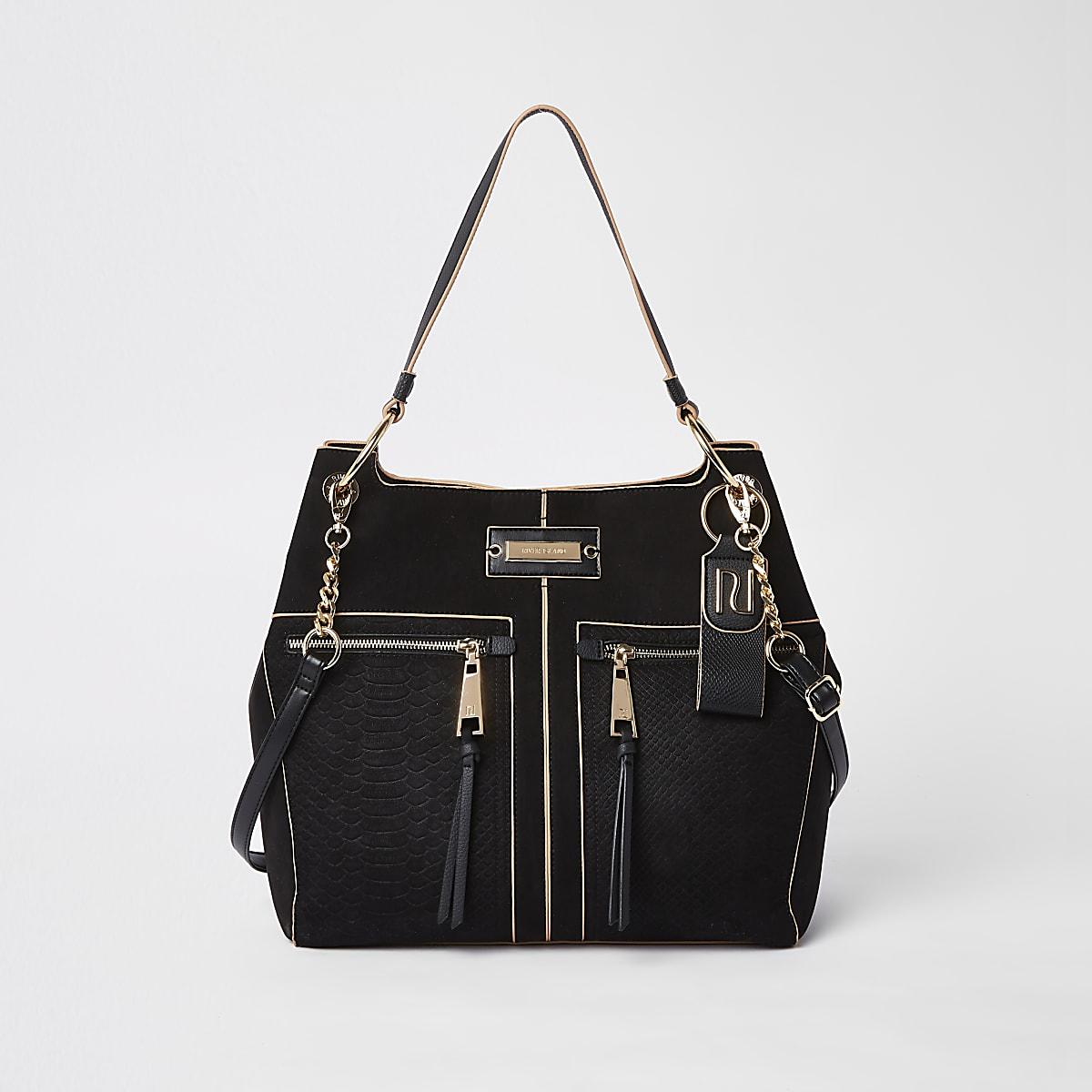 Zwarte tas met rits voor