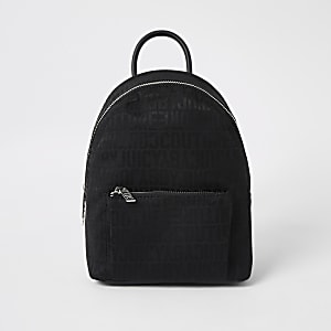 Juicy Couture black monogram mini backpack