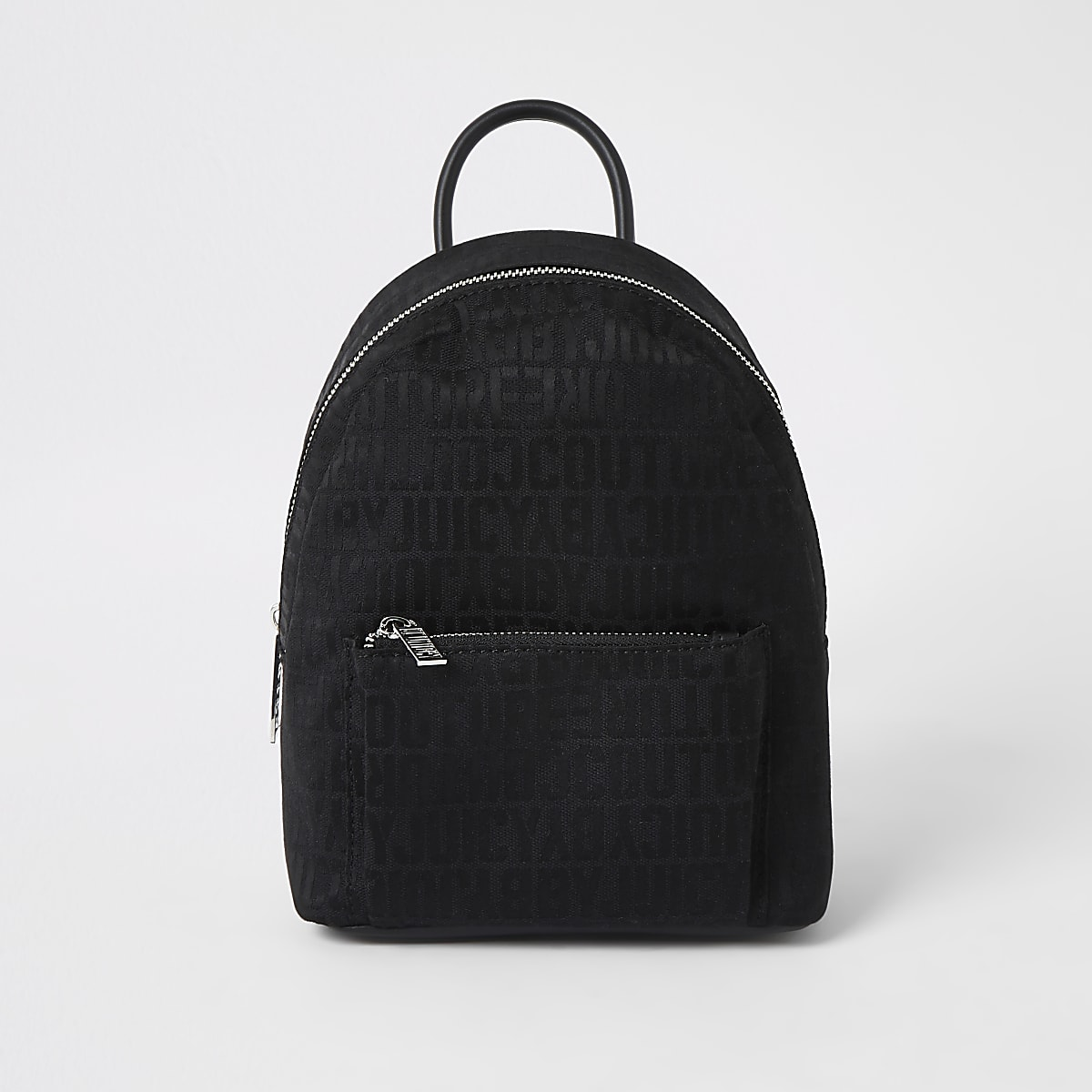 Juicy Couture - Zwarte kleine rugzak met monogram