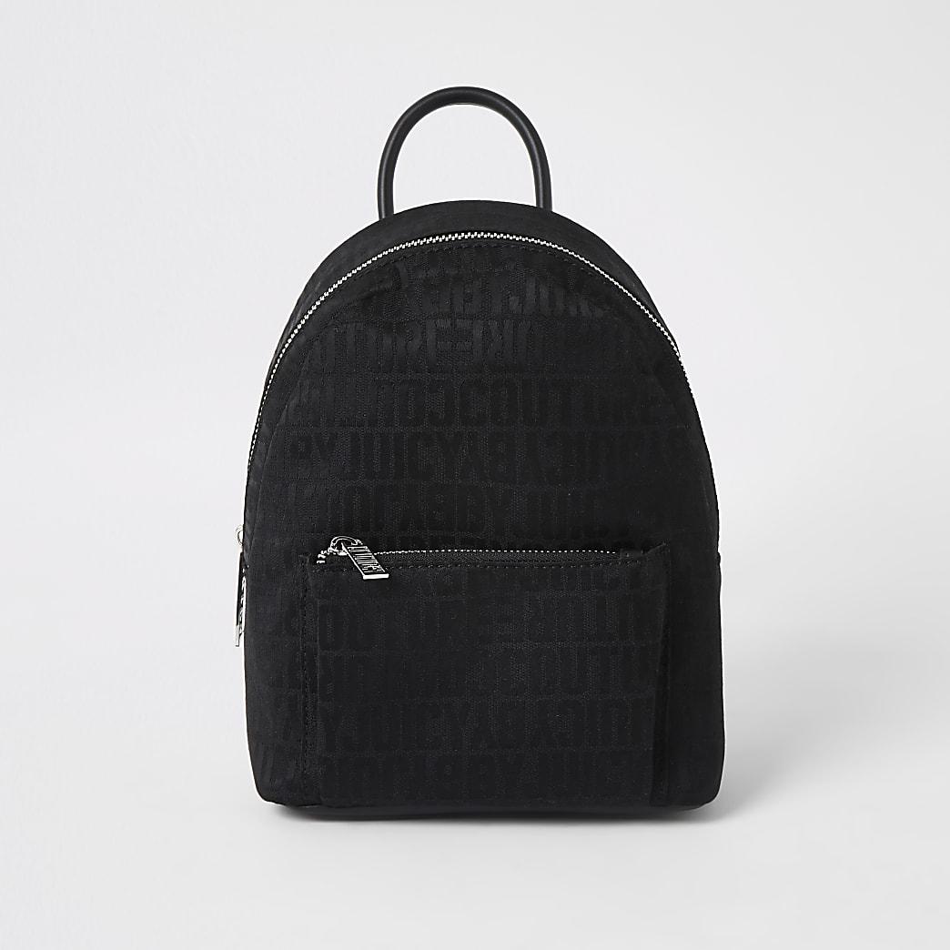 Juicy Couture black monogram mini backpack
