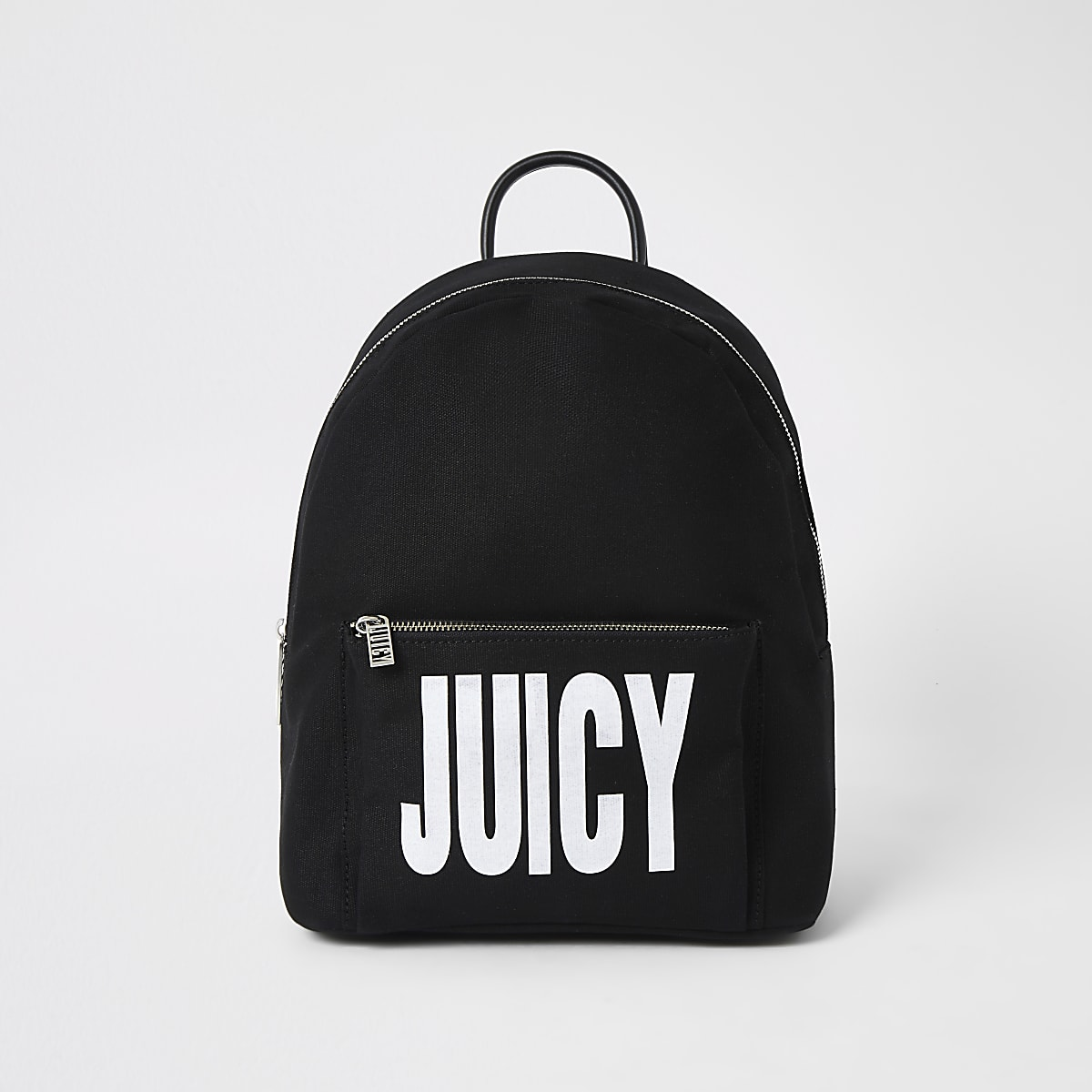 Juicy Couture black logo print backpack