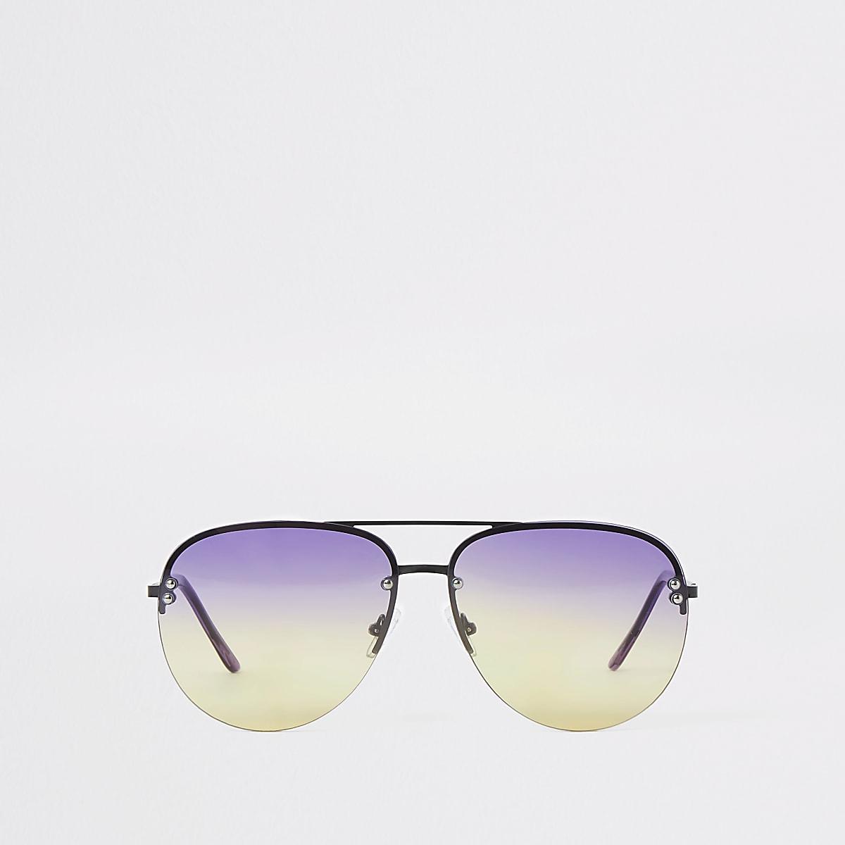 Caroline Flack black ombre aviator sunglasses