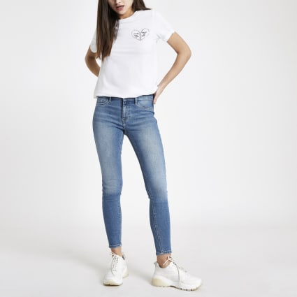 Mid blue FTBC Charity Molly jeggings