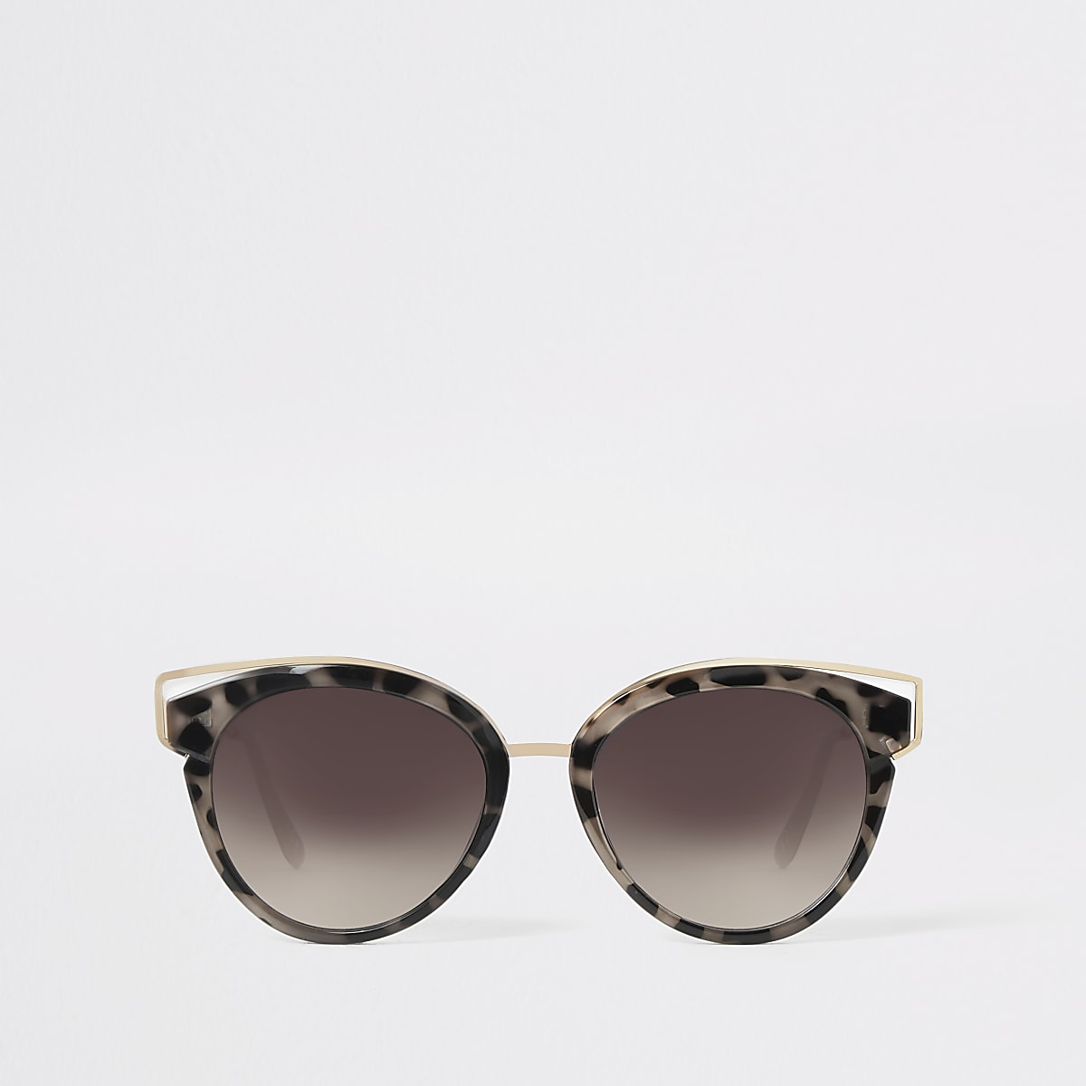 Caroline Flack brown cat eye sunglasses