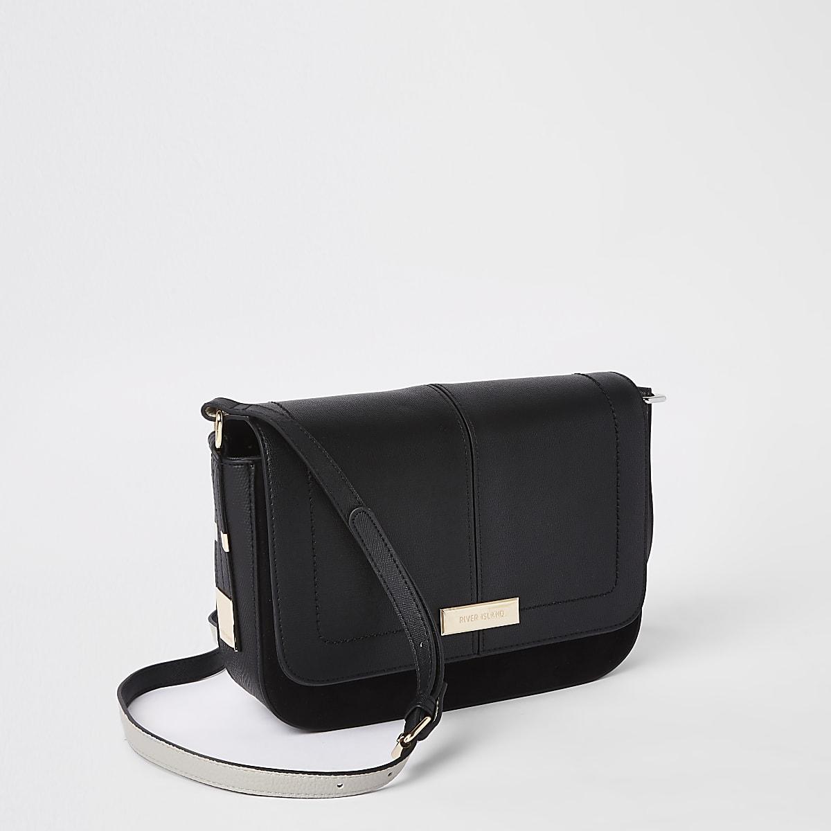 Black pouch cross body bag