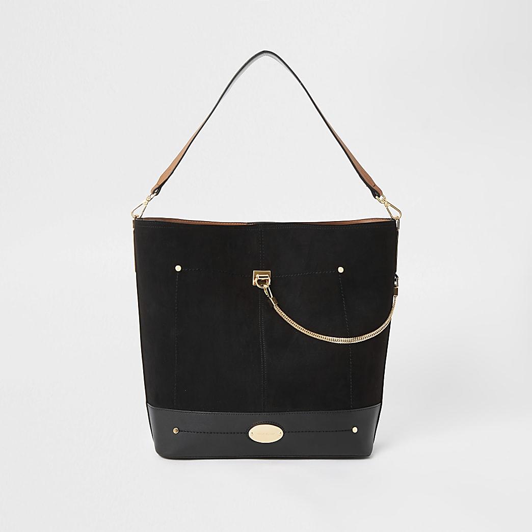 Zwarte tas met ketting voor