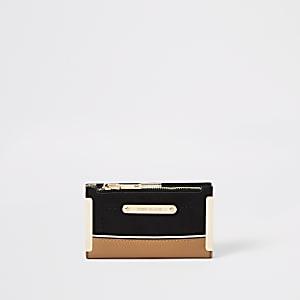 Schwarze Mini-Geldbörse