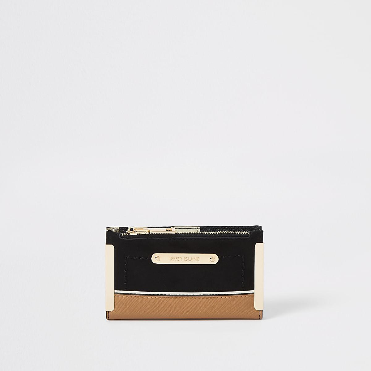 Black mini fold out purse