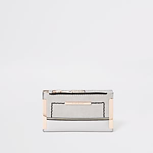 Light grey mini fold out purse