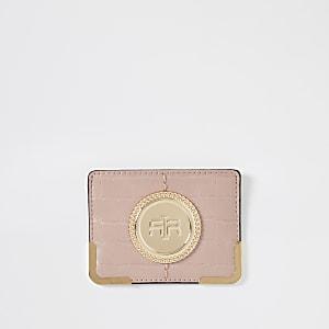 Roze kaarthouder met RI-logo