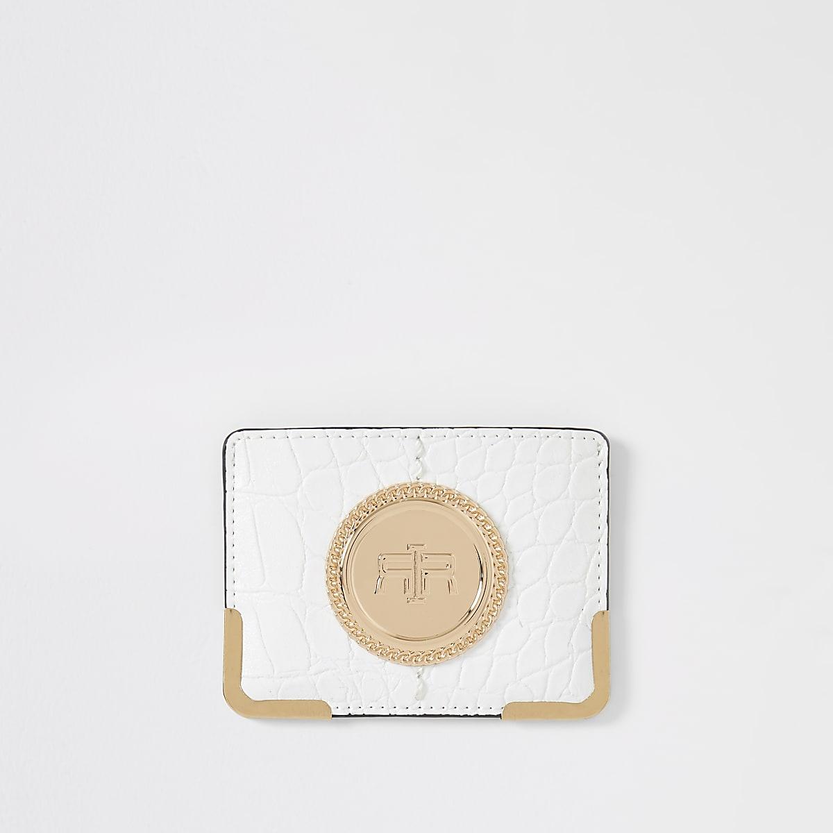 White RI card holder