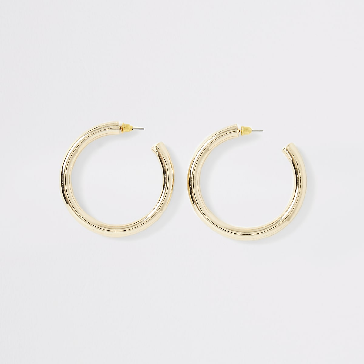 Gold color chunky hoop earrings