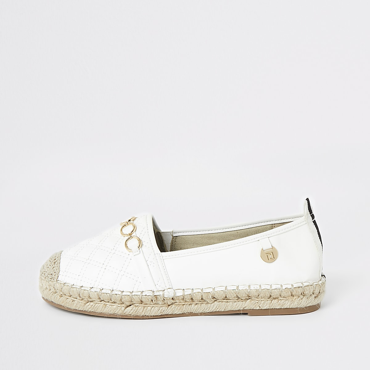 White snaffle front espadrille plimsolls