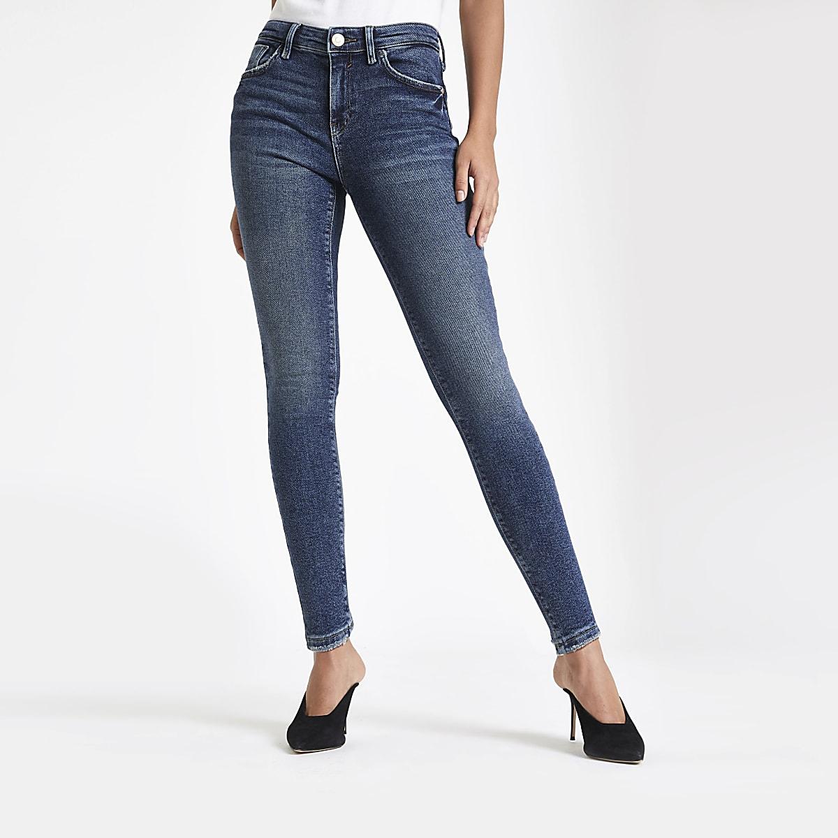 Dark blue Amelie super skinny jeans