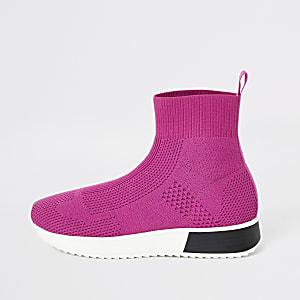Roze sokvormige sneakers