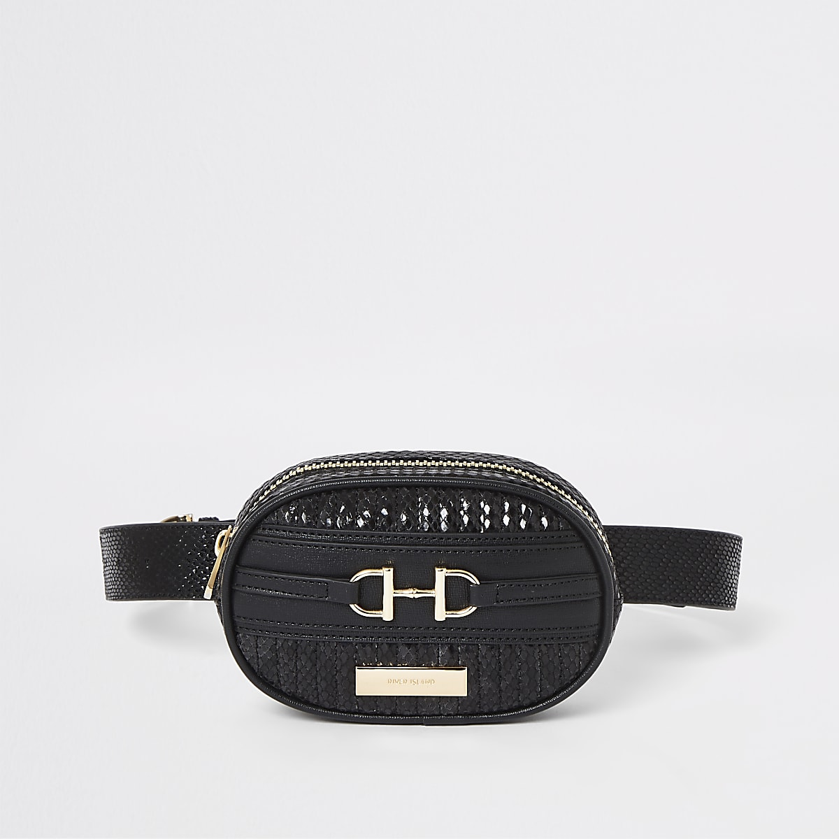 Black snake print belt bum bag