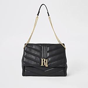 Schwarze, gesteppte Tasche