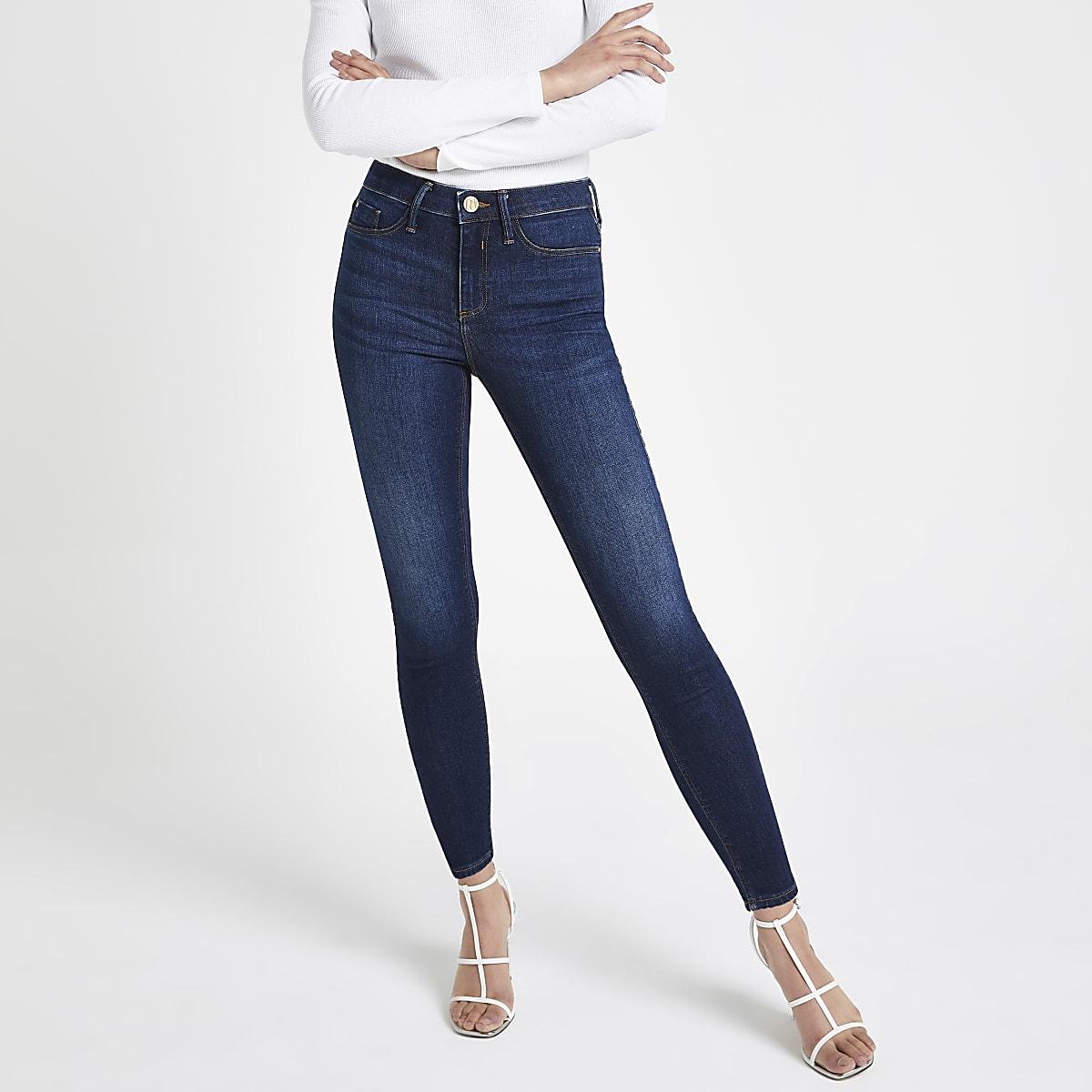 c14a5c03c8fdb Dark denim Molly mid rise jeggings - Jeggings - Jeans - women