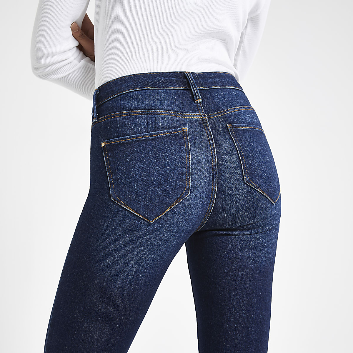 Dark denim Molly mid rise jeggings