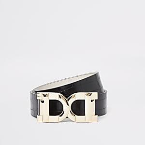 Schwarzer Gürtel mit D-Ring