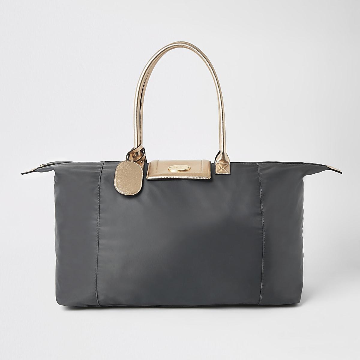 Grey soft RI weekend travel bag
