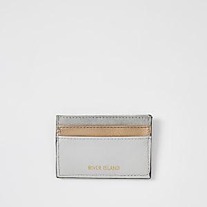 Grey rose gold cardholder