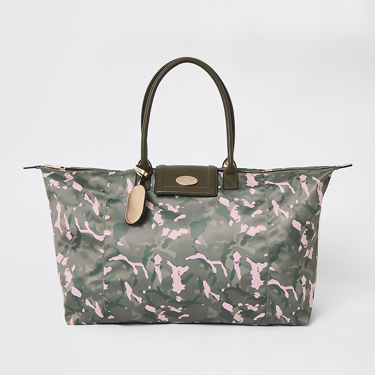 Khaki camo travel bag