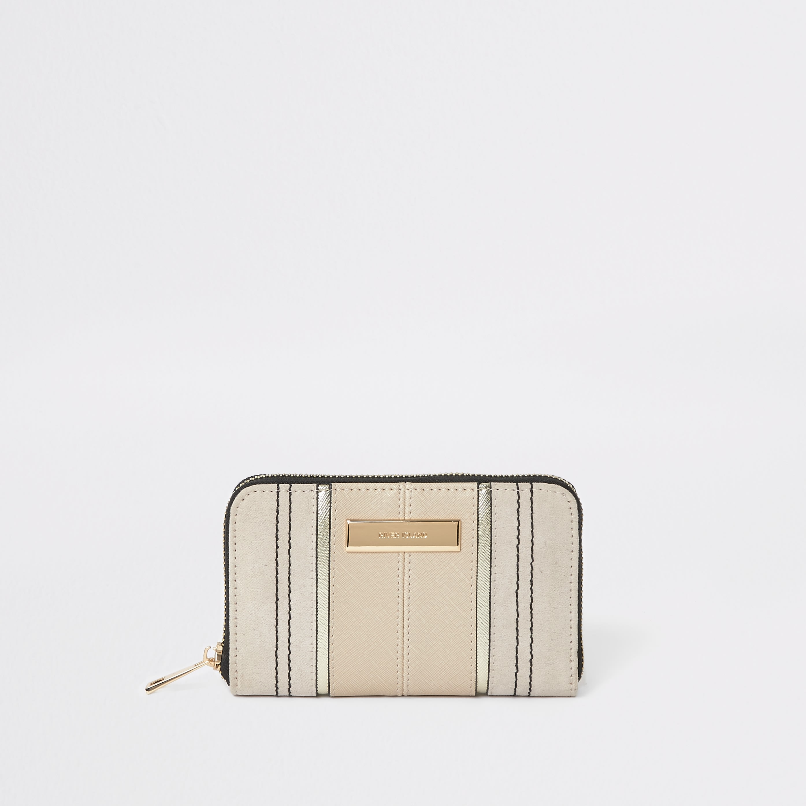 RIVER ISLAND | Womens Beige Zip Around Mini Purse | Goxip