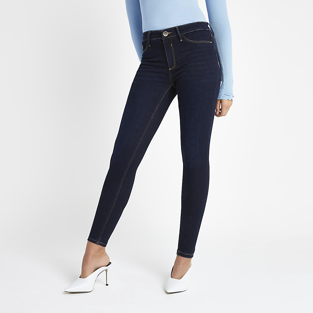 Dark blue Molly mid rise jeggings
