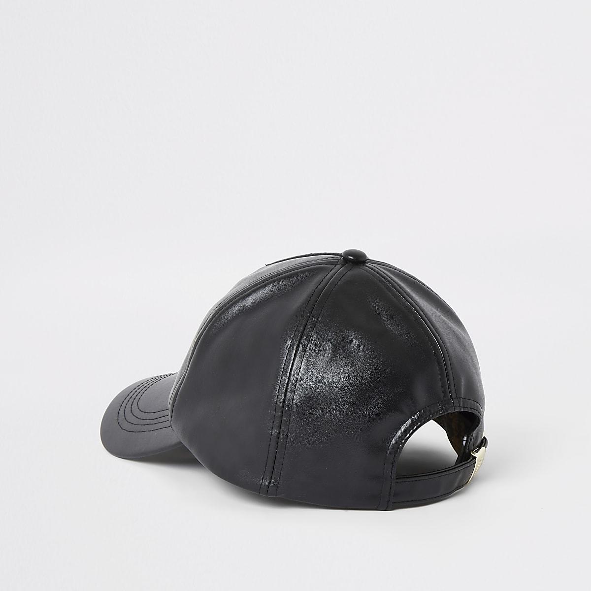 494b69f26 Black faux leather lion cap - Hats - Accessories - women