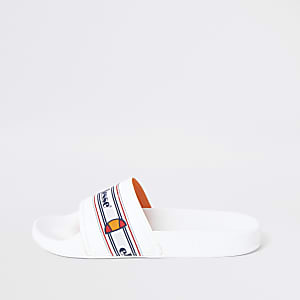 Ellesse white sliders