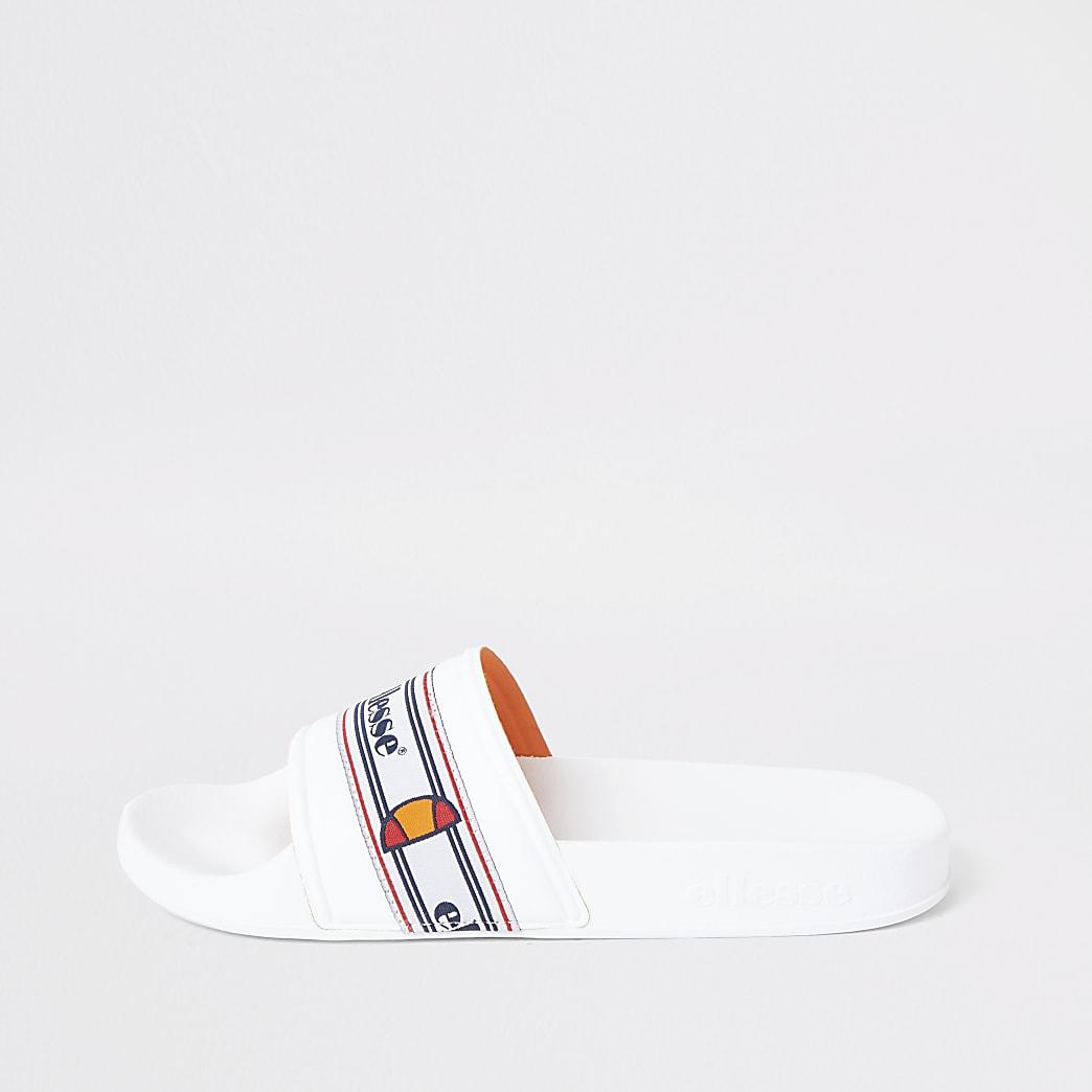Ellesse white sliders