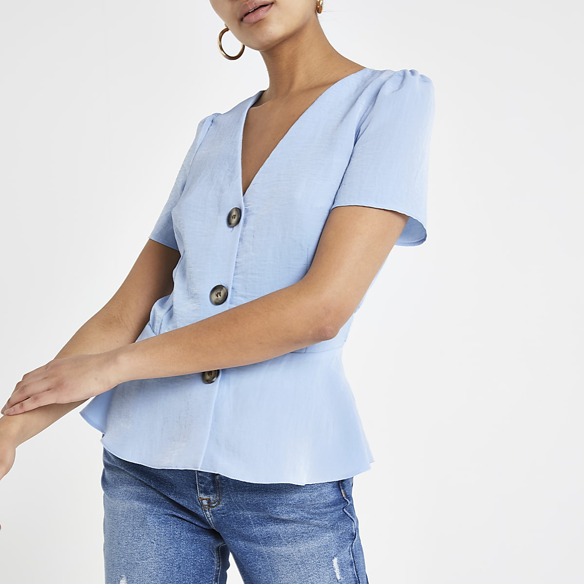 Light blue tea top