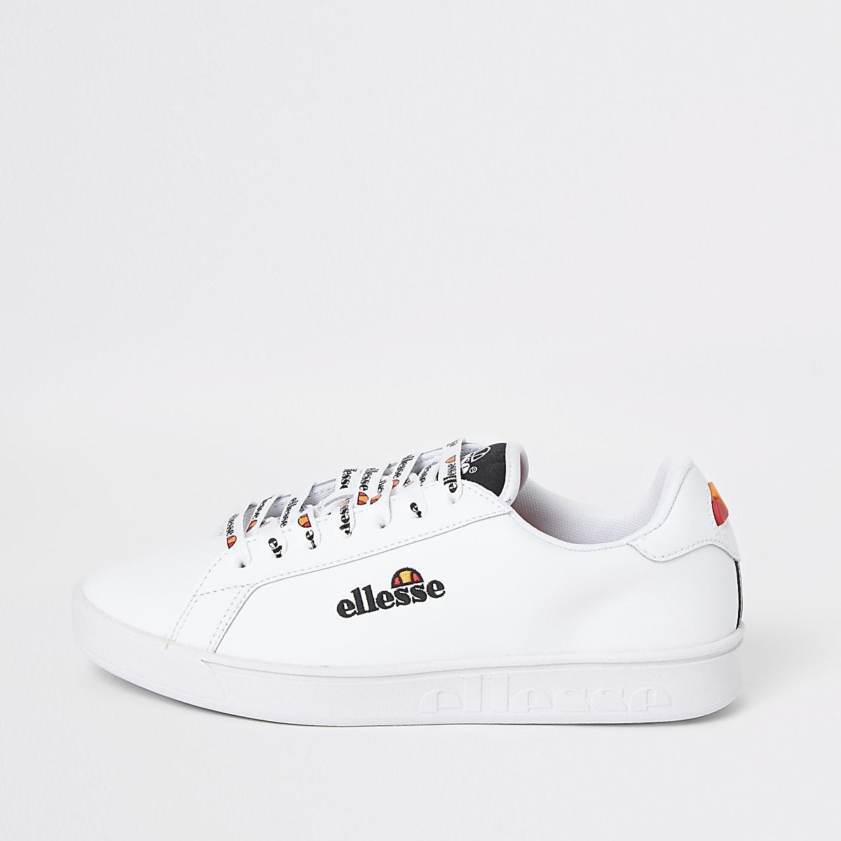 Ellesse Campo - Witte geborduurde sneakers