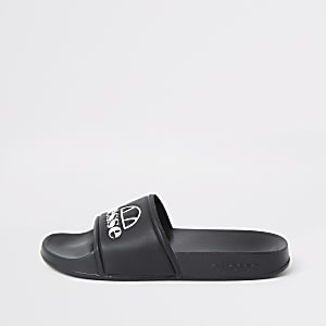 Ellesse black sliders