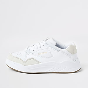 Lacoste white court slam runner trainer